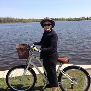 Riding round Wascana Lake