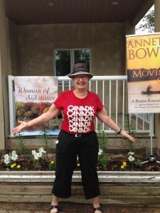 I'm at the Sunshine Arts Festival at Regina Beach, SK, July 1, 2015