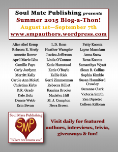 Book mark everyday for August for a new author