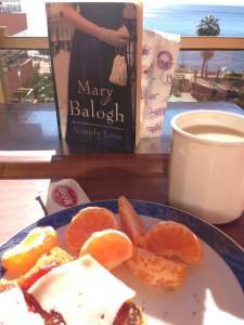 Simply Love at Breakfast overlooking the Mediterranean Sea